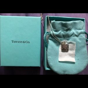 Authentic Tiffany small tag necklace